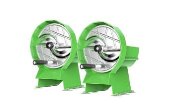SOGA 2X Commercial Manual Vegetable Fruit Slicer Kitchen Cutter Machine Green