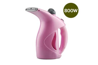 Hand Held Steam Cleaner Garment Clothes Steamer Compact Portable Quick Heat Pink