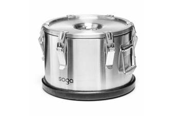 SOGA 304 30X23cm Stainless Steel Insulated Food Carrier Food Warmer