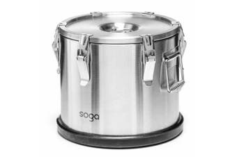 SOGA 304 30X29cm Stainless Steel Insulated Food Carrier Food Warmer