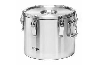 SOGA 304 20L Stainless Steel Insulated Food Carrier Food Warmer
