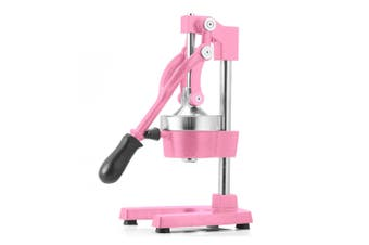 SOGA Commercial Manual Juicer Hand Press Juice Extractor Squeezer Orange Citrus Pink