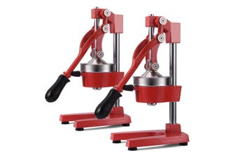 SOGA 2X Commercial Manual Juicer Hand Press Juice Extractor Squeezer Orange Citrus Red