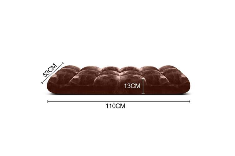 SOGA Floor Recliner Folding Lounge Sofa Futon Couch Folding Chair Cushion Coffee x2