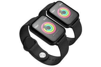 SOGA 2x Waterproof Fitness Smart Wrist Watch Heart Rate Monitor Tracker Black