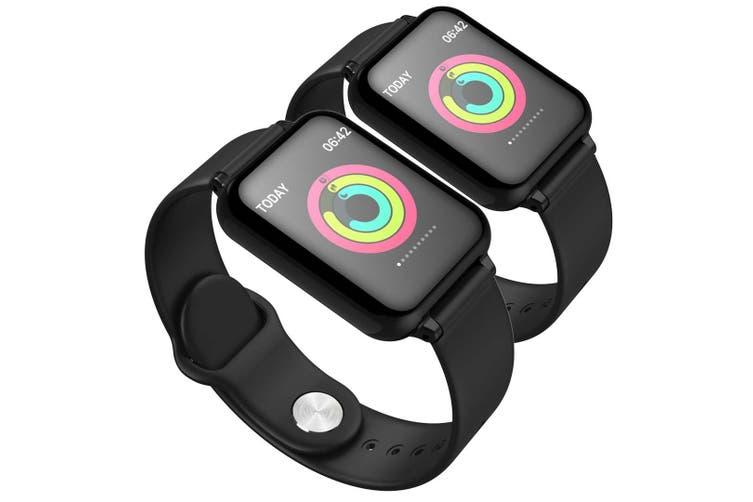 SOGA 2x Waterproof Fitness Smart Wrist Watch Heart Rate Monitor Tracker Black