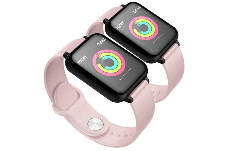 SOGA 2x Waterproof Fitness Smart Wrist Watch Heart Rate Monitor Tracker Pink