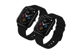 SOGA 2X Waterproof Fitness Smart Wrist Watch Heart Rate Monitor Tracker P8 Black