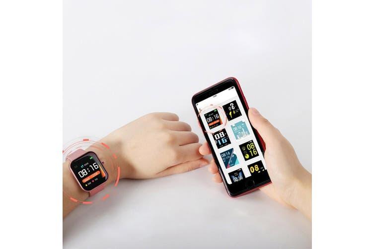 SOGA 2X Waterproof Fitness Smart Wrist Watch Heart Rate Monitor Tracker P8 Pink
