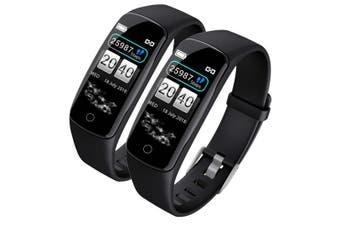 SOGA 2x Sport Monitor Wrist Touch Fitness Tracker Smart Watch Black