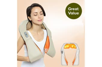 SOGA Electric Kneading Neck Shoulder Arm Body Massager With Heat Health Care