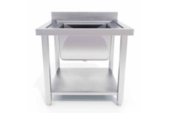 SOGA 70*70*85cm Stainless Steel Work Bench Sink Commercial Restaurant Kitchen Food Prep