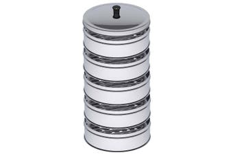 SOGA 5 Tier 22cm Stainless Steel Steamers With Lid Work inside of Basket Pot Steamers
