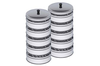 SOGA 2X 5 Tier Stainless Steel Steamers With Lid Work inside of Basket Pot Steamers 22cm