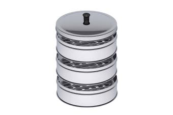 SOGA 3 Tier 28cm Stainless Steel Steamers With Lid Work inside of Basket Pot Steamers