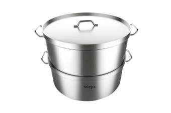 SOGA Food Steamer 28cm Commercial 304 Top Grade Stainless Steel 2 Tiers