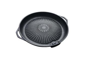 SOGA Portable Korea BBQ Butane Gas Stove Stone Grill Pot Non Stick Coated Round Plate