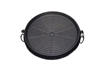 SOGA Portable Korean BBQ Butane Gas Stove Stone Grill Plate Non Stick Coated Round