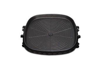 SOGA Portable Korean BBQ Butane Gas Stove Stone Grill Plate Non Stick Coated Square