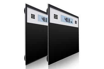 SOGA 2X 180kg Electronic Talking Scale Weight Fitness Glass Bathroom Scale LCD Display Stainless