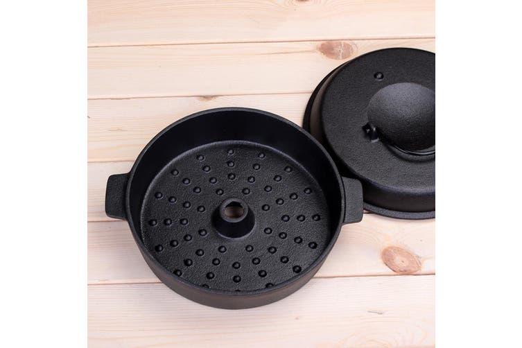 SOGA 28cm Cast Iron Dutch Oven Pre-Seasoned Cast Iron Pot with Lid