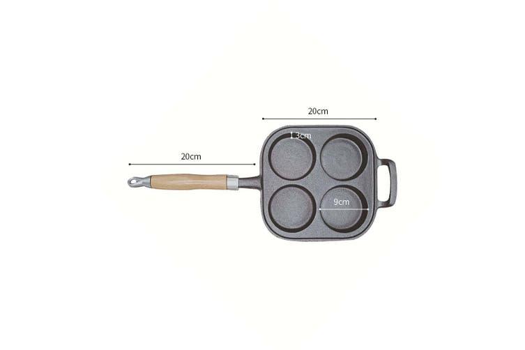 SOGA 4 Mold Cast Iron Breakfast Fried Egg Pancake Omelette Non-stick Fry Pan