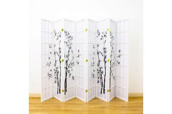 Zen Garden Room Divider Screen White 8 Panel