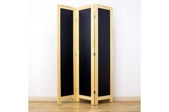 Blackboard Room Divider Screen Natural 3 Panel