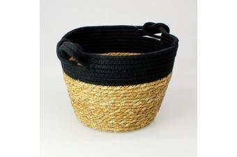 Seagrass Rope Storage Basket Black Large