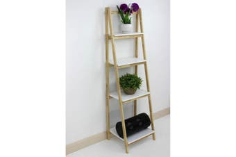 Wooden Shelving Unit Fold Up 4 Tier