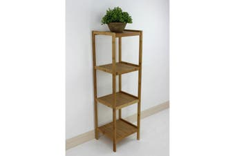 Bamboo Shelving Unit 4 Tier