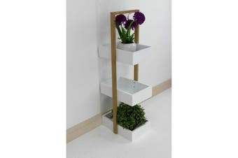 Bamboo White Storage Unit