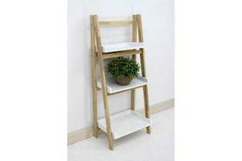 Wooden Tray Shelving Unit Fold Up 3 Tier