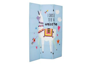 Canvas Lama Kids Room Divider Screen 3 Panel