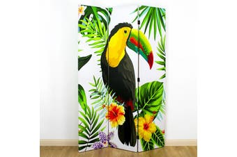 Canvas Toucan Room Divider Screen 3 Panel