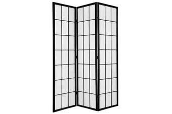 Shoji Room Divider Screen Black 3 Panel