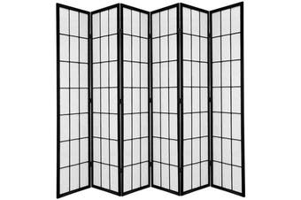 Shoji Room Divider Screen Black 6 Panel