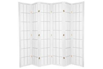 Shoji Room Divider Screen White 6 Panel