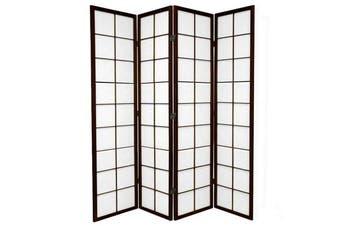 Zen Room Divider Screen Brown 4 Panel