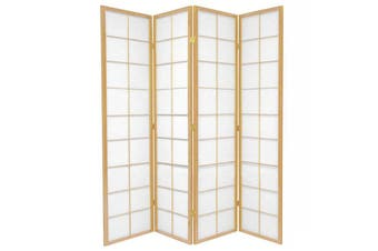 Zen Room Divider Screen Natural 4 Panel