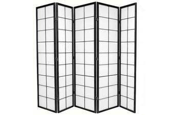 Zen Room Divider Screen Black 5 Panel