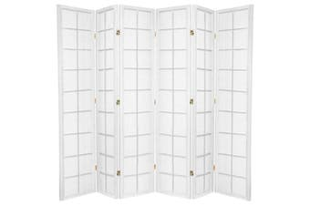 Zen Room Divider Screen White 6 Panel