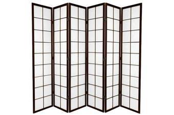 Zen Room Divider Screen Brown 6 Panel