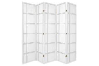 Cross Room Divider Screen White 5 Panel