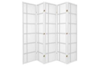 Cross Room Divider Screen White 5 Panel