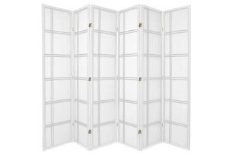 Cross Room Divider Screen White 6 Panel