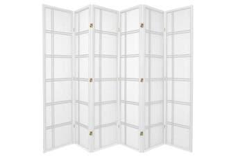 Cross Room Divider Screen White 6 Panel