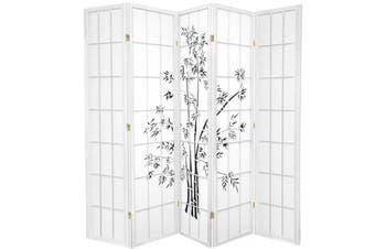 Zen Garden Room Divider Screen White 5 Panel
