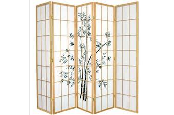 Zen Garden Room Divider Screen Natural 5 Panel