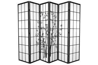 Zen Garden Room Divider Screen Black 6 Panel